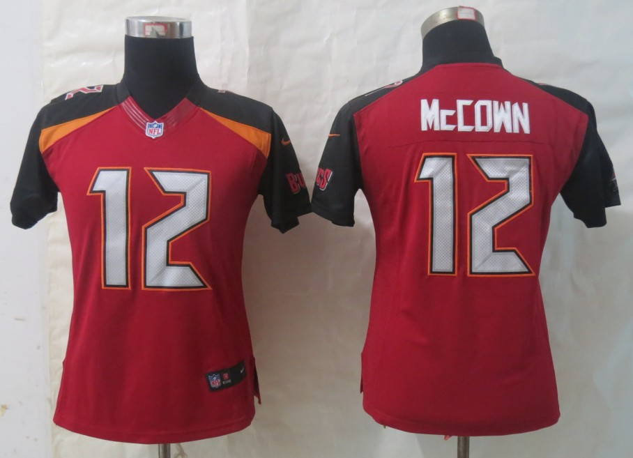 Women 2014 New Nike Tampa Bay Buccaneers 12 McCown Red Limited Jerseys