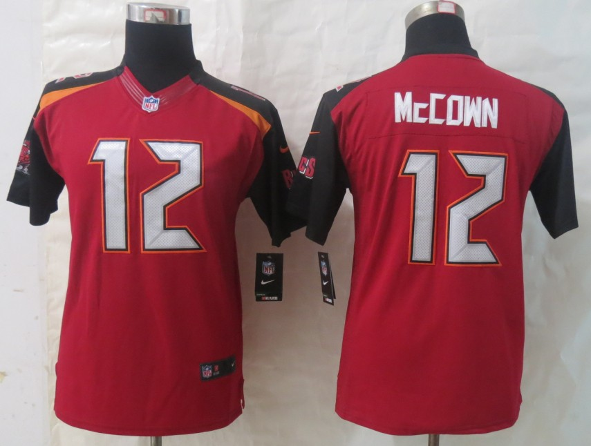 Youth 2014 New Nike Tampa Bay Buccaneers 12 McCown Red Limited Jerseys