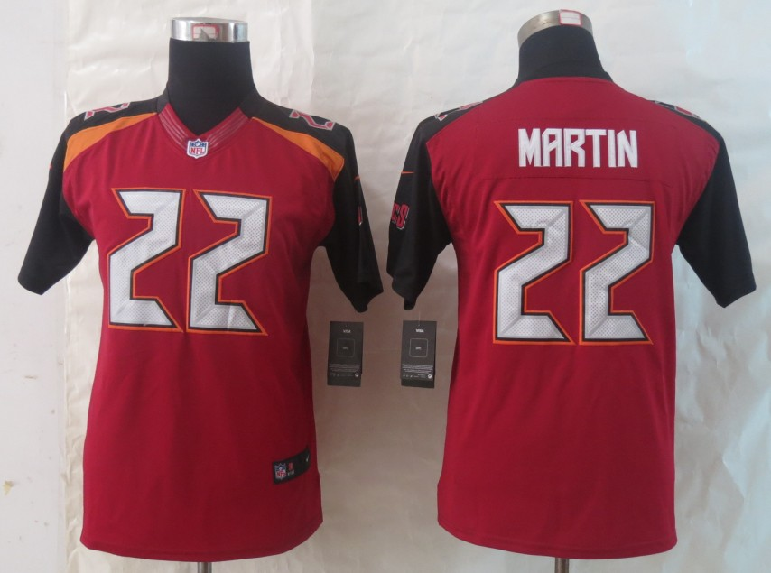 Youth 2014 New Nike Tampa Bay Buccaneers 22 Martin Red Limited Jerseys