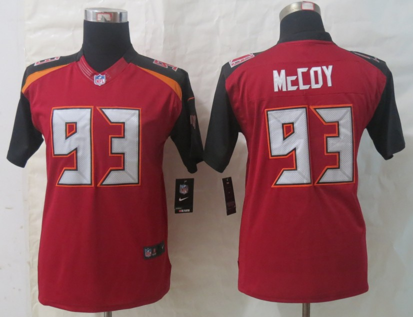Youth 2014 New Nike Tampa Bay Buccaneers 93 McCoy Red Limited Jerseys