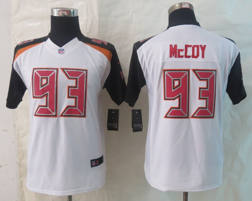 Youth 2014 New Nike Tampa Bay Buccaneers 93 McCoy White Limited Jerseys
