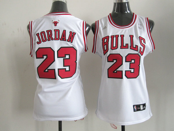 2014 NBA Chicago Bulls 23 Jordan white Women Swingman jersey