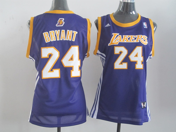 2014 NBA Los Angeles Lakers 24 Bryant purple Women Swingman jerseys