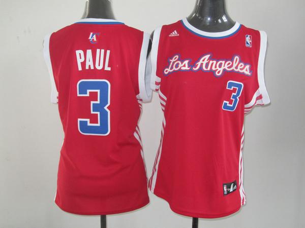 2014 NBA Los Angeles Lakers 3 Paul Red women Swingman jerseys