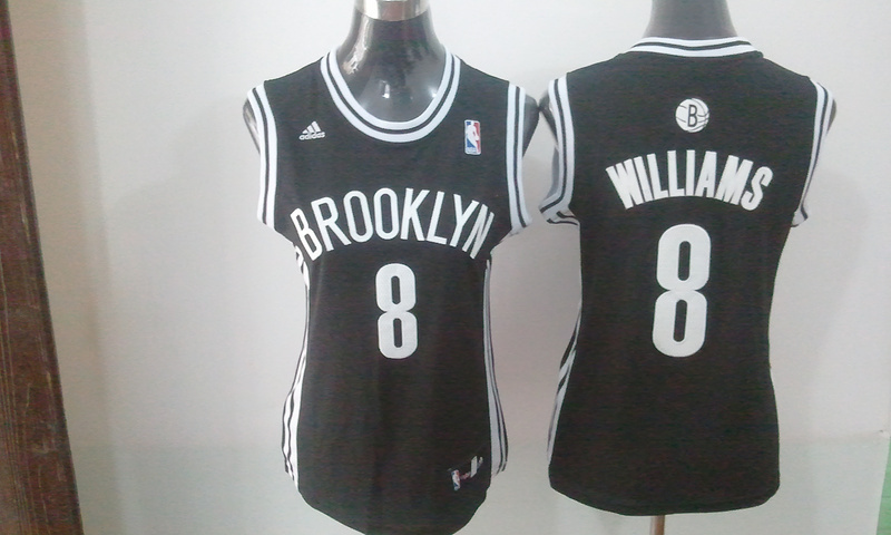 2014 NBA Brooklyn Nets 8 Williams black women Swingman jerseys