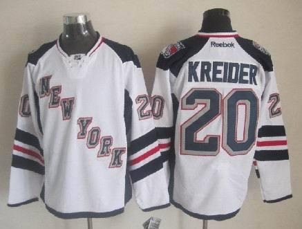 NHL New York Rangers #20 Kreider 2014 Stadium Series Authentic White Jersey