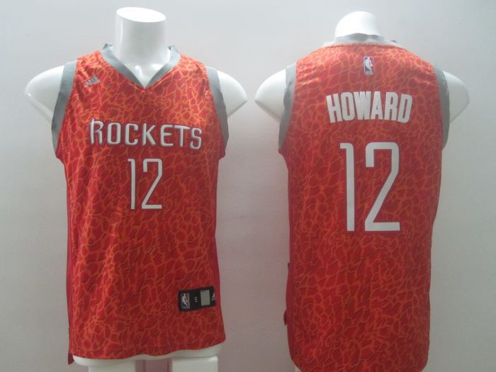 NBA Houston Rockets 12 Howard red Leopard Print Fashion Jersey