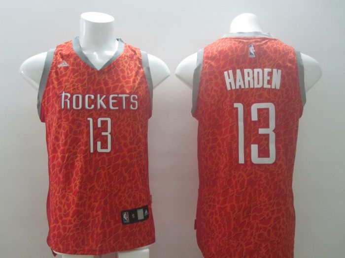 NBA Houston Rockets 13 Harden red Leopard Print Fashion Jersey