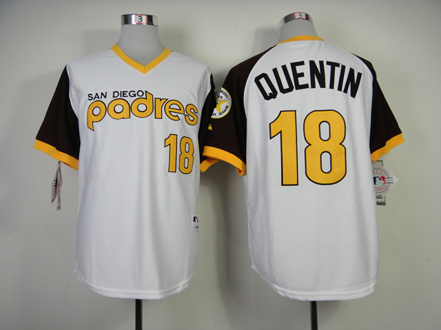 San Diego Padres 18 Authentic Carlos Quentin 1978 Turn Back The Clock Jersey