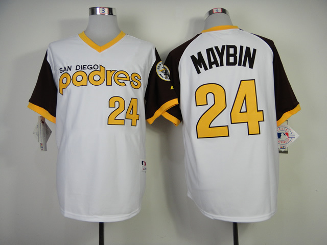 San Diego Padres 24 Authentic Cameron Maybin 1978 Turn Back The Clock Jersey