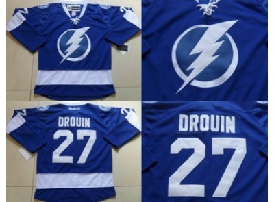 Tampa Bay Lightning #27 Drouin Blue Jersey