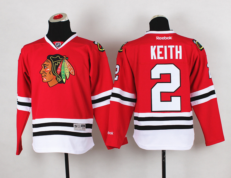Youth NHL Chicago Blackhawks 2 Duncan Keith Red Jerseys