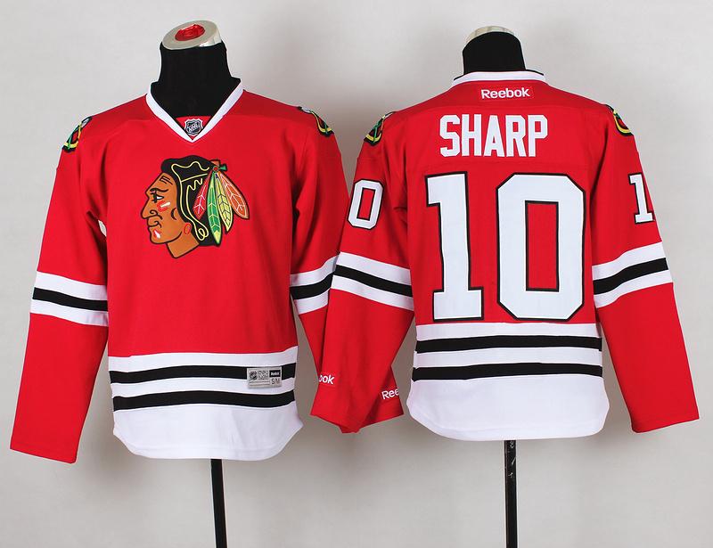 Youth NHL Chicago Blackhawks 10 Patrick Sharp Red Jerseys