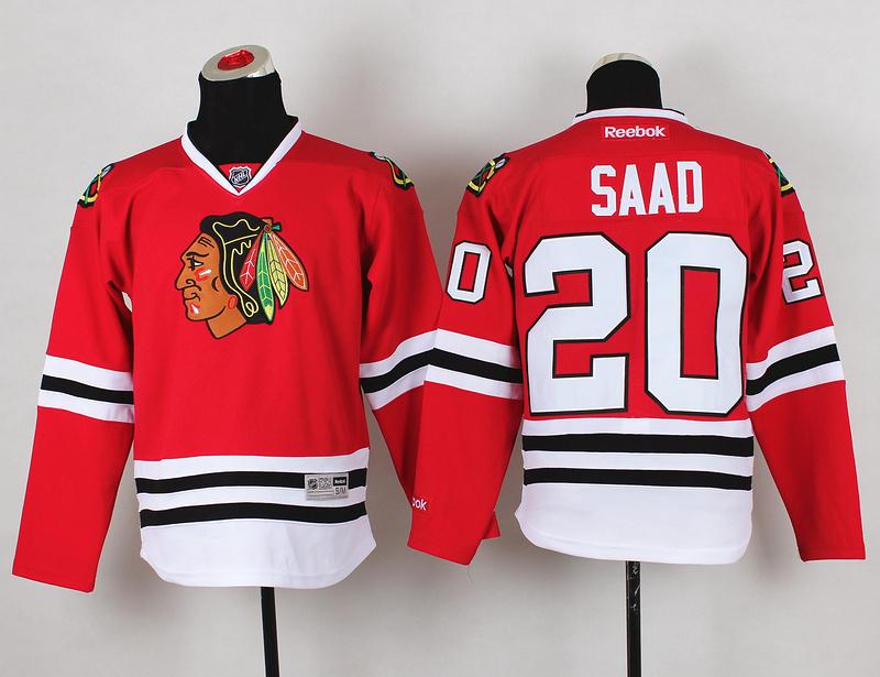 Youth NHL Chicago Blackhawks 20 Brandon Saad Red Jerseys