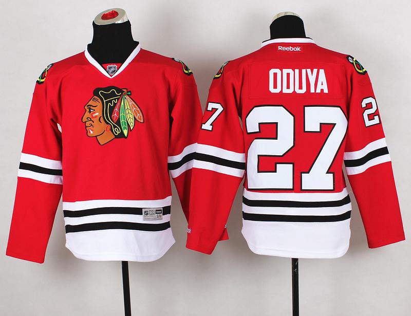 Youth NHL Chicago Blackhawks 27 Johnny Oduya Red Jerseys
