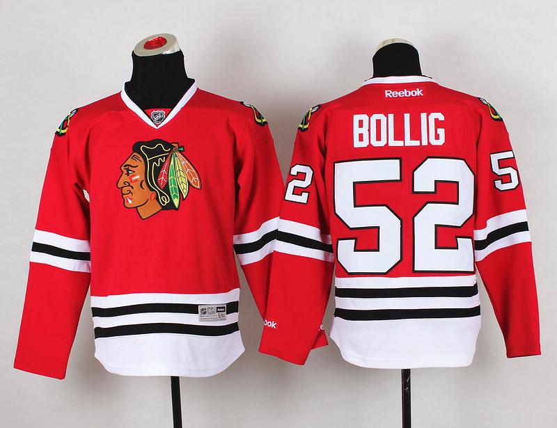 Youth NHL Chicago Blackhawks 52 Brandon Bollig Red Jerseys
