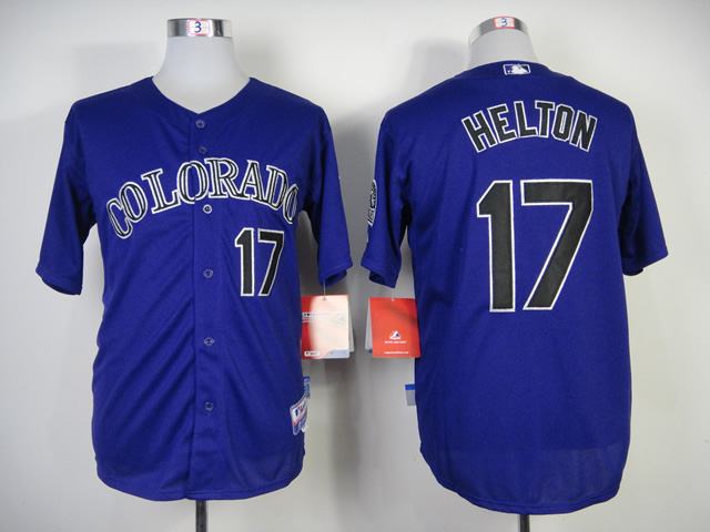 MLB Colorado Rockies #17 Helton Purple Jersey