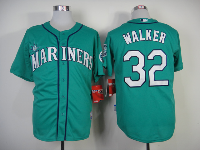 MLB Seattle Mariners #32 Walker Green Jersey