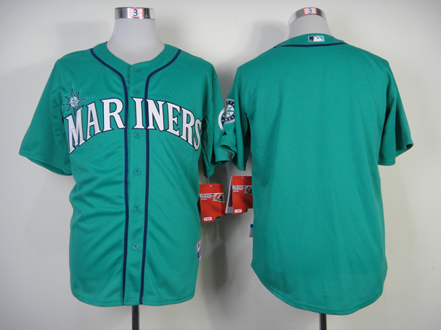 MLB Seattle Mariners Blank No name Green Jersey