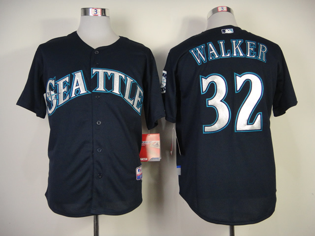 MLB Seattle Mariners #32 Walker Blue Jersey