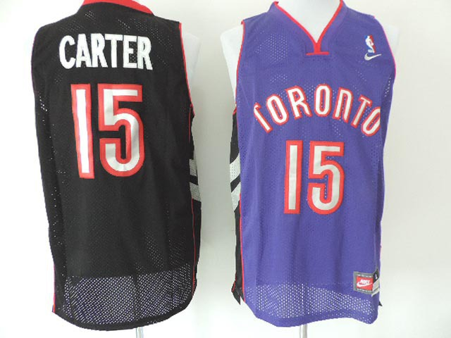 Toronto Raptors #15 Vince Carter Throwback Swingman Purple Jersey