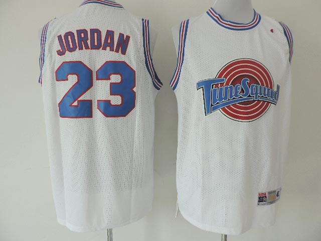 NBA Michael Jordan 23 TUNESQUAD White Tune Squad Space Jam Movie basketball Jersey