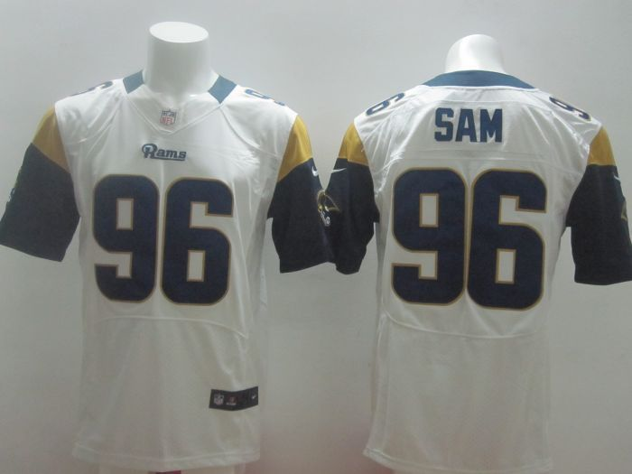 2014 Nike NFL St. Louis Rams 96 Sam white Elite Jerseys