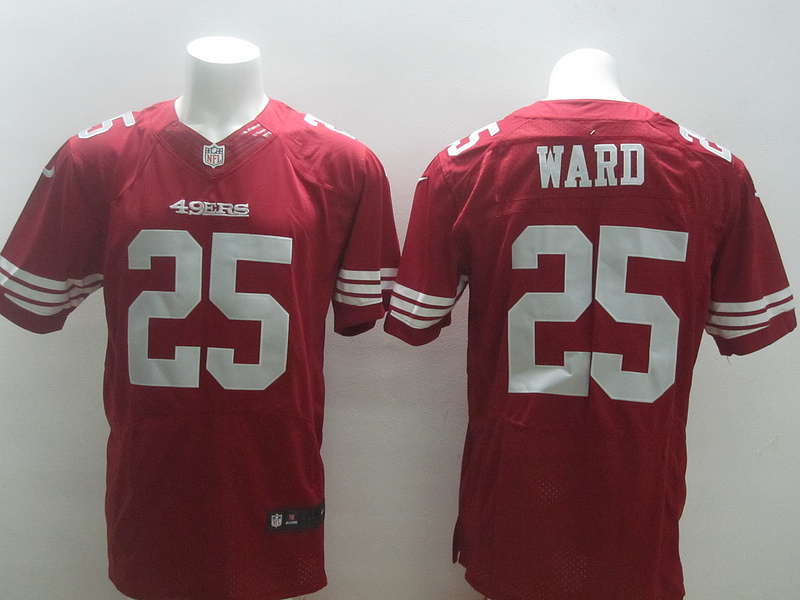2014 Nike NFL San Francisco 49ers 25 Ward Red elite jerseys