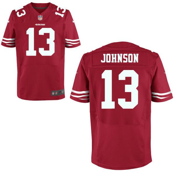Nike San Francisco 49ers #13 Stevie Johnson red 2014 Draft Elite Jersey