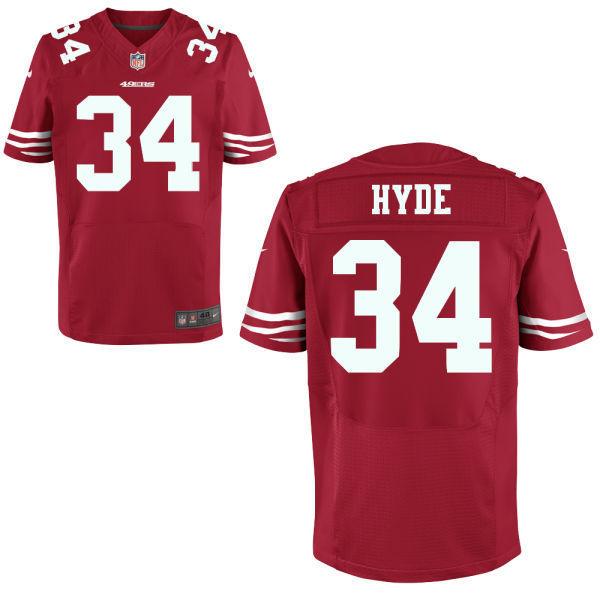 Nike San Francisco 49ers #34 Carlos Hyde Red 2014 Draft Elite Jersey
