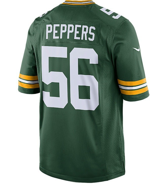 Nike NFL Green Bay Packers 56# Peppers Green Elite Jerseys