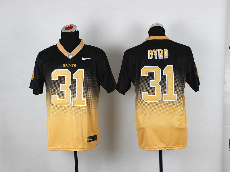 New Orleans Saints 31 Jairus Byrd Black Gold NFL Nike Drift Fashion II Elite Jerseys