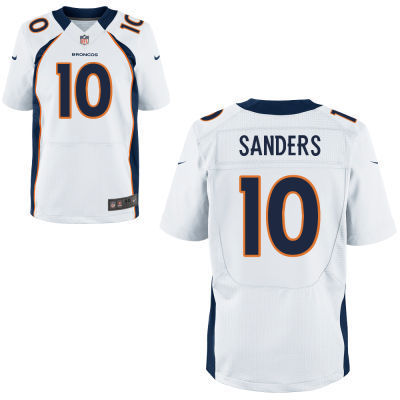 Denver Broncos 10 Sanders White 2014 Nike NFL Elite Jerseys