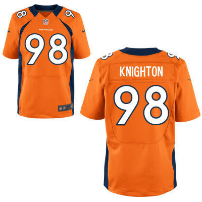 Denver Broncos 98 Knighton Orange 2014 Nike NFL Elite Jerseys