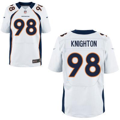 Denver Broncos 98 Knighton White 2014 Nike NFL Elite Jerseys