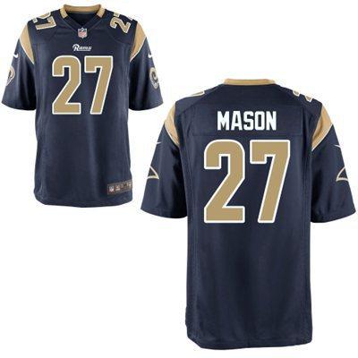 2014 Nike NFL St. Louis Rams 27 Mason Navy Blue Elite Jersey