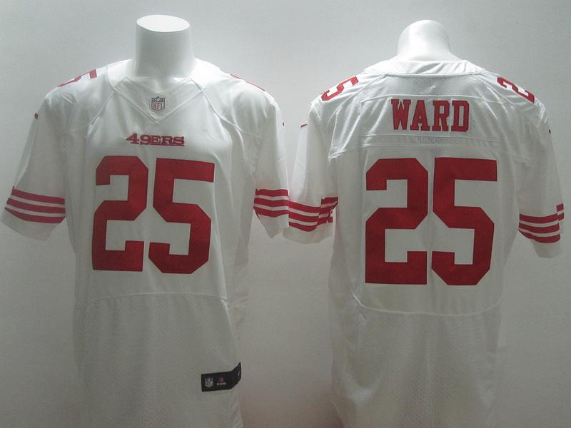 2014 Nike NFL San Francisco 49ers 25 Ward white elite jerseys