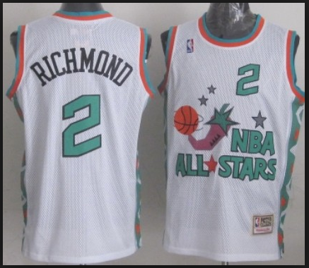 NBA 1996 All-Star East #2 Mitch Richmond Kemp White Retro Soul Swingman