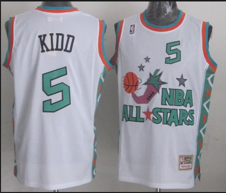 NBA 1996 All-Star East #5 Jason Kidd White Retro Soul Swingman
