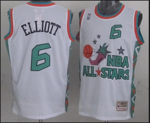 NBA 1996 All-Star East #6 Sean Elliott White Retro Soul Swingman