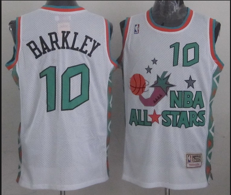 NBA 1996 All-Star East #10 Charles Barkley White Retro Soul Swingman