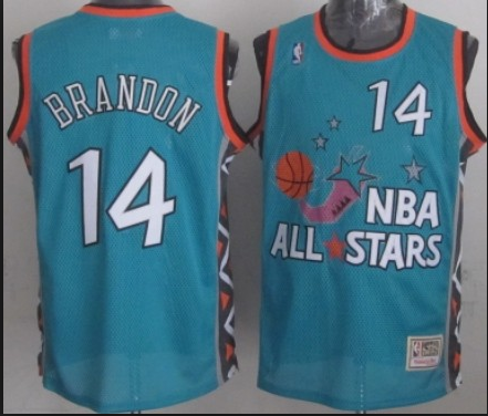 NBA 1996 All-Star East #14 Charles Barkley Teal Green Retro Soul Swingman