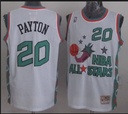 NBA 1996 All-Star East #20 Gary Payton White Retro Soul Swingman