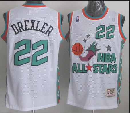 NBA 1996 All-Star East #22 Clyde Drexler White Retro Soul Swingman