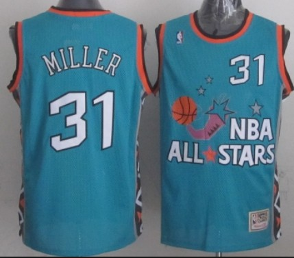NBA 1996 All-Star East #31 Reggie Miller Teal Green Retro Soul Swingman