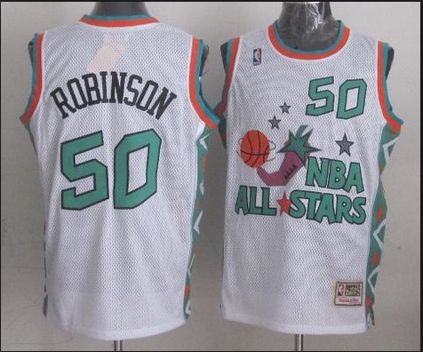 NBA 1996 All-Star East #50 David Robinson White Retro Soul Swingman