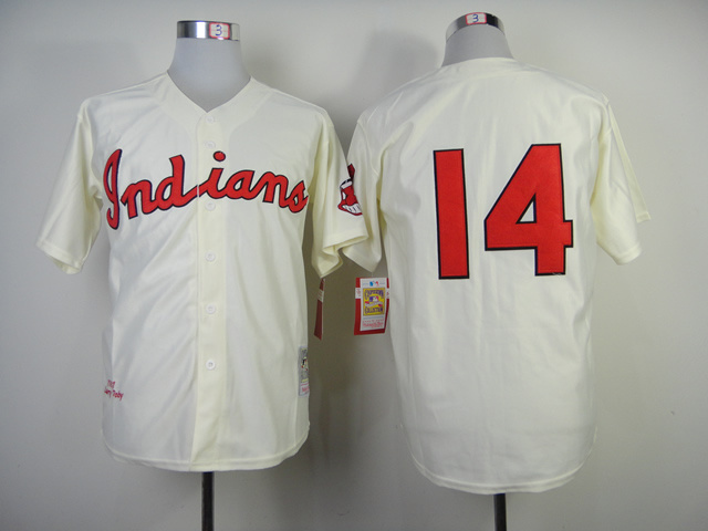 Cleveland Indians #14 No Name 1948 Turn Back The Clock Jersey
