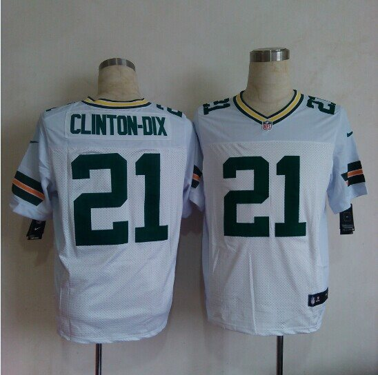 Nike Green Bay Packers 21 Clinton-Dix white Elite Jerseys
