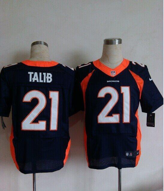 NFL Denver Broncos #21 TALIB Blue Nike ELITE Jersey