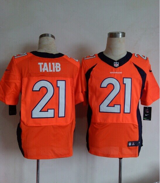NFL Denver Broncos #21 TALIB orange Nike ELITE Jersey